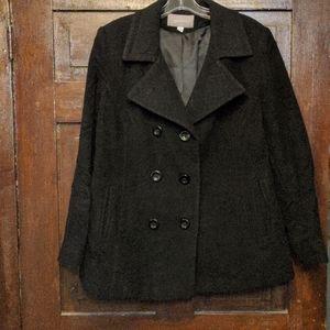 Croft and barrow black pea coat